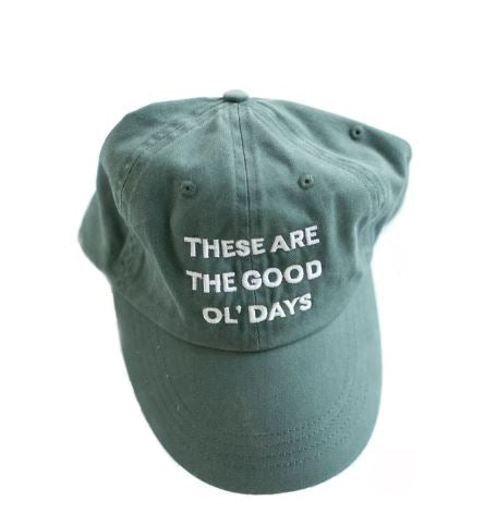 Modern Burlap  - These are the good ol' days - Pigment-Dyed Baseball Cap  | Navy