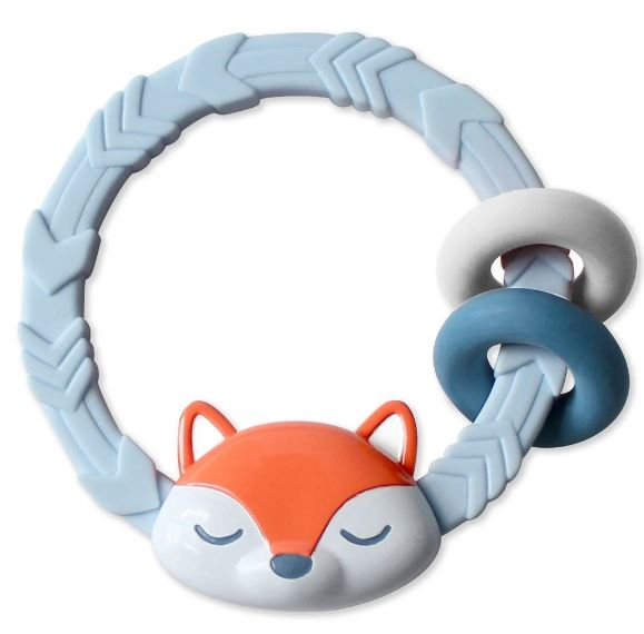 Itzy Ritzy - RITZY RATTLE™ WITH TEETHING RINGS - Fox Rattle