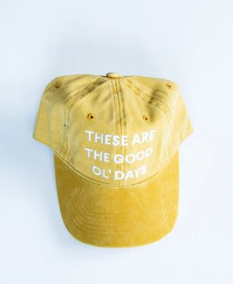 Modern Burlap  - These are the good ol' days - Baseball Cap  | Yellow