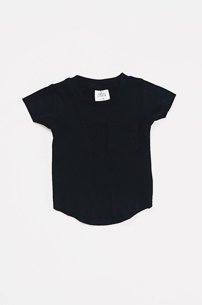 Orcas Lucille - Ribbed Pocket Tee- Black