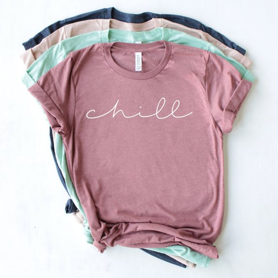 Overtype - Chill Crew Neck Shirt - Mauve