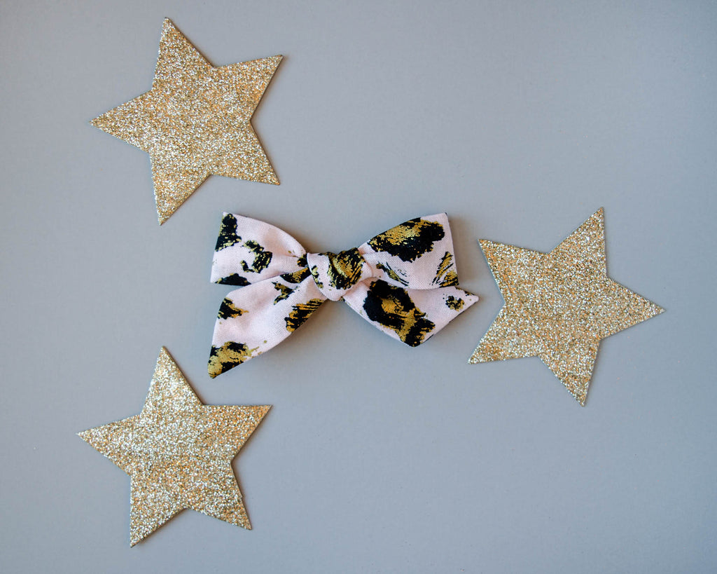 Baby Ellie's Bows - Wild in Pink + Gold - The Lizzie Bow