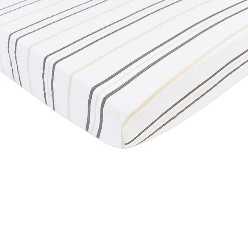 Newcastle Classics - Grey Stripe Crib Sheet