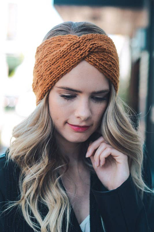 Leto Accessories - Twisted Braid Knit Headband