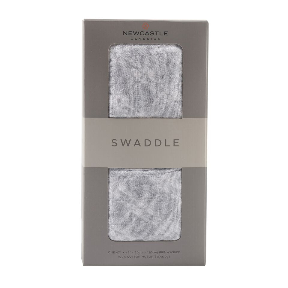 Newcastle Classics - Glacier Grey Plaid Swaddle