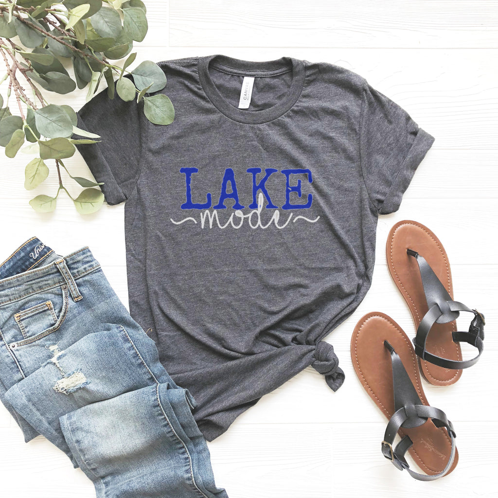 Top Crate - Lake Mode Graphic Tee - Deep Heather