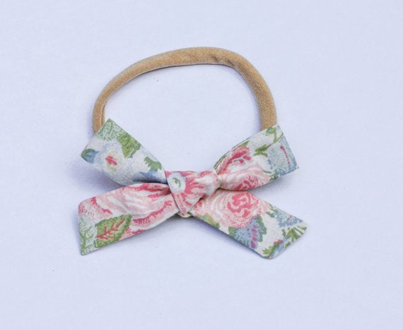 Camryn Girl Handmade - Floral School girl Bow