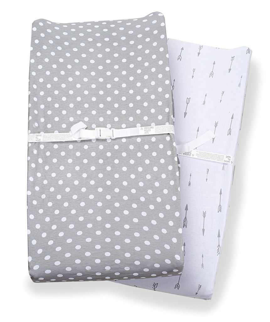 Consciously Baby - Urban Changing Pad Covers - Set of 2