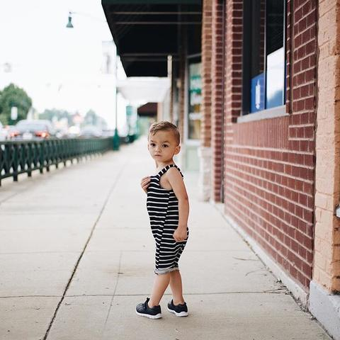 Young and Free Apparel - Black Baby Overall
