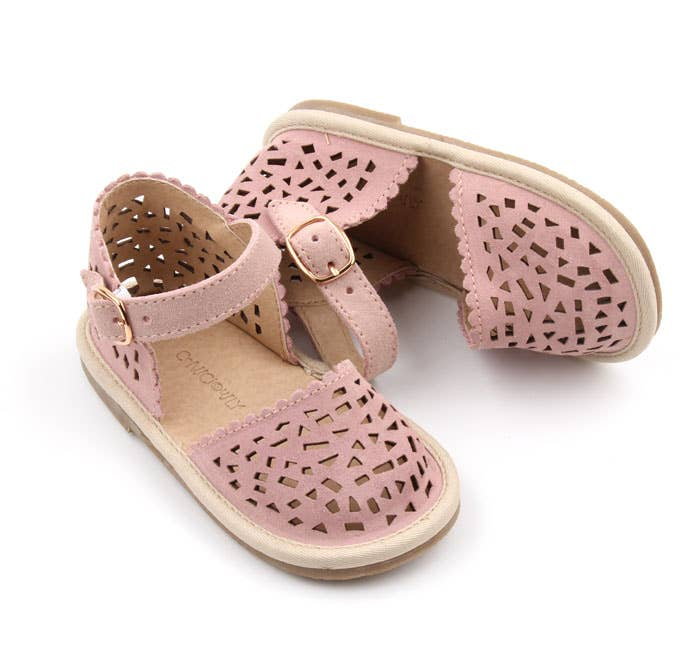Consciously - Hard Sole Toddler Suede Sandal | Ref 'Bali Pink'