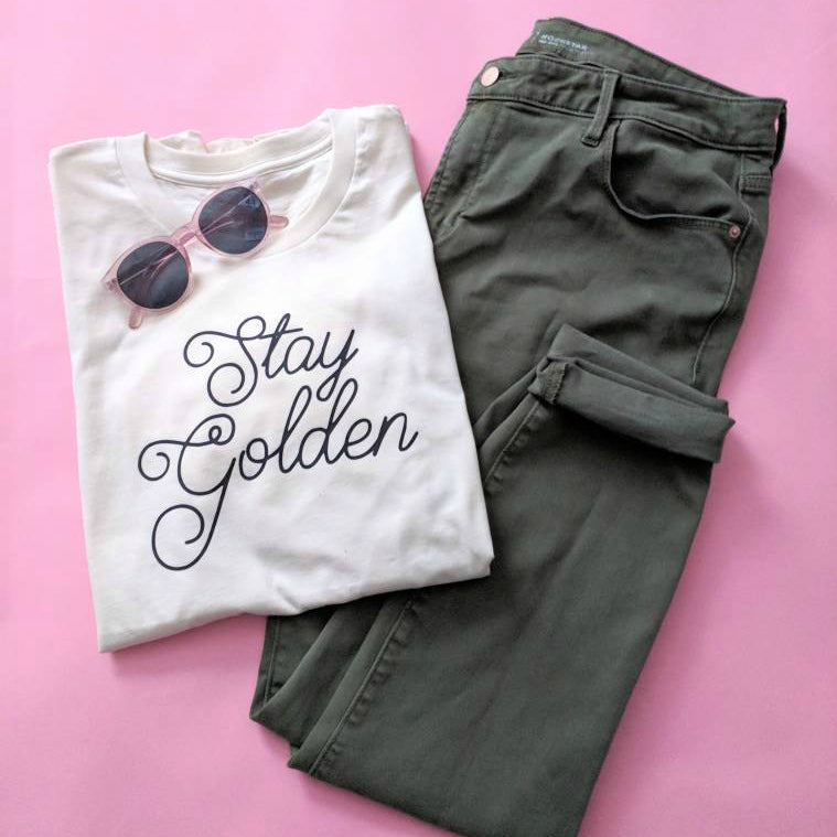Love Frankie Studio - Stay Golden Natural Tee