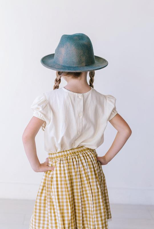 Lemon + Lucy - Pennypacker - Button Back S/S White Linen Top