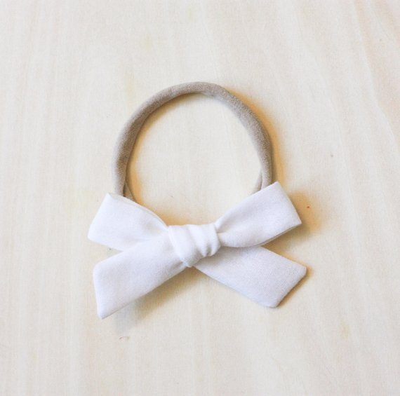 Camryn Girl Handmade - White School Girl Bow