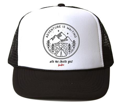 Bubu - Adventures White/Black Trucker Hat