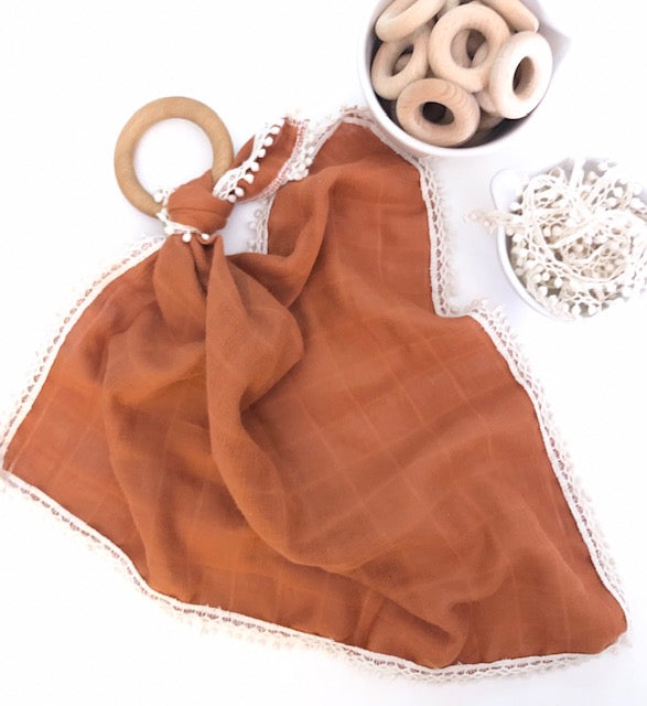 Pretty Please Boutique Teethers - Lovey - Rust