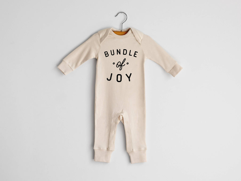 The Oyster's Pearl - Bundle Of Joy Organic Baby Romper in Natural