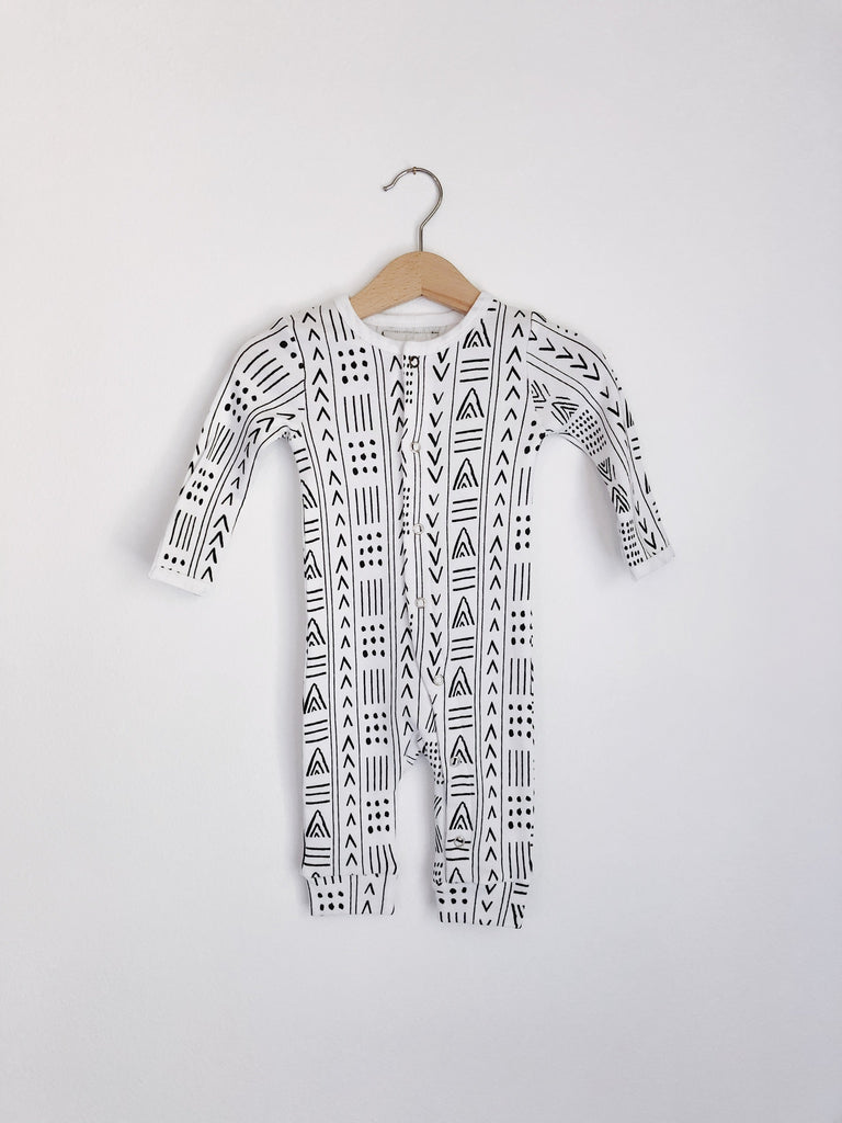 Modern Burlap - Organic Coverall | Mud Cloth