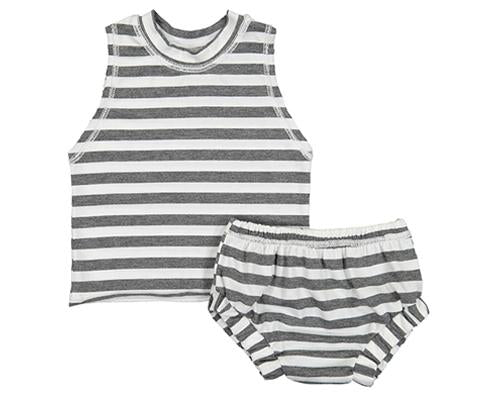 Billie Blooms - Grey Stripes Set