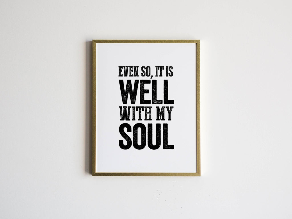 The Oyster's Pearl - 8 x 10 It is Well With My Soul Print