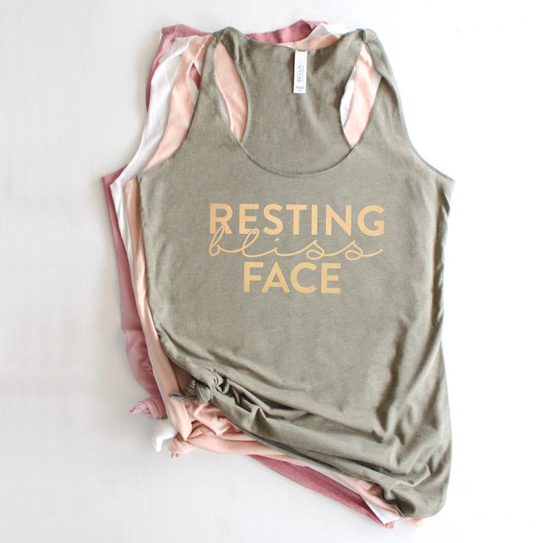 Overtype - Resting Bliss Face Yoga Tank - Green