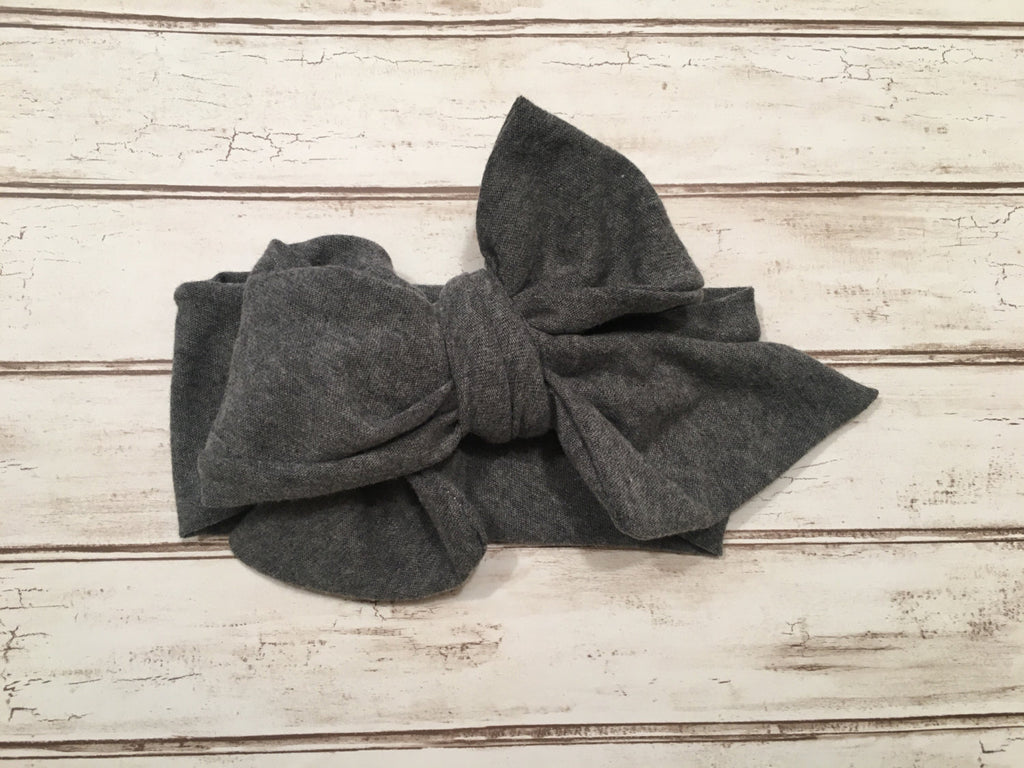 Heather grey headwrap