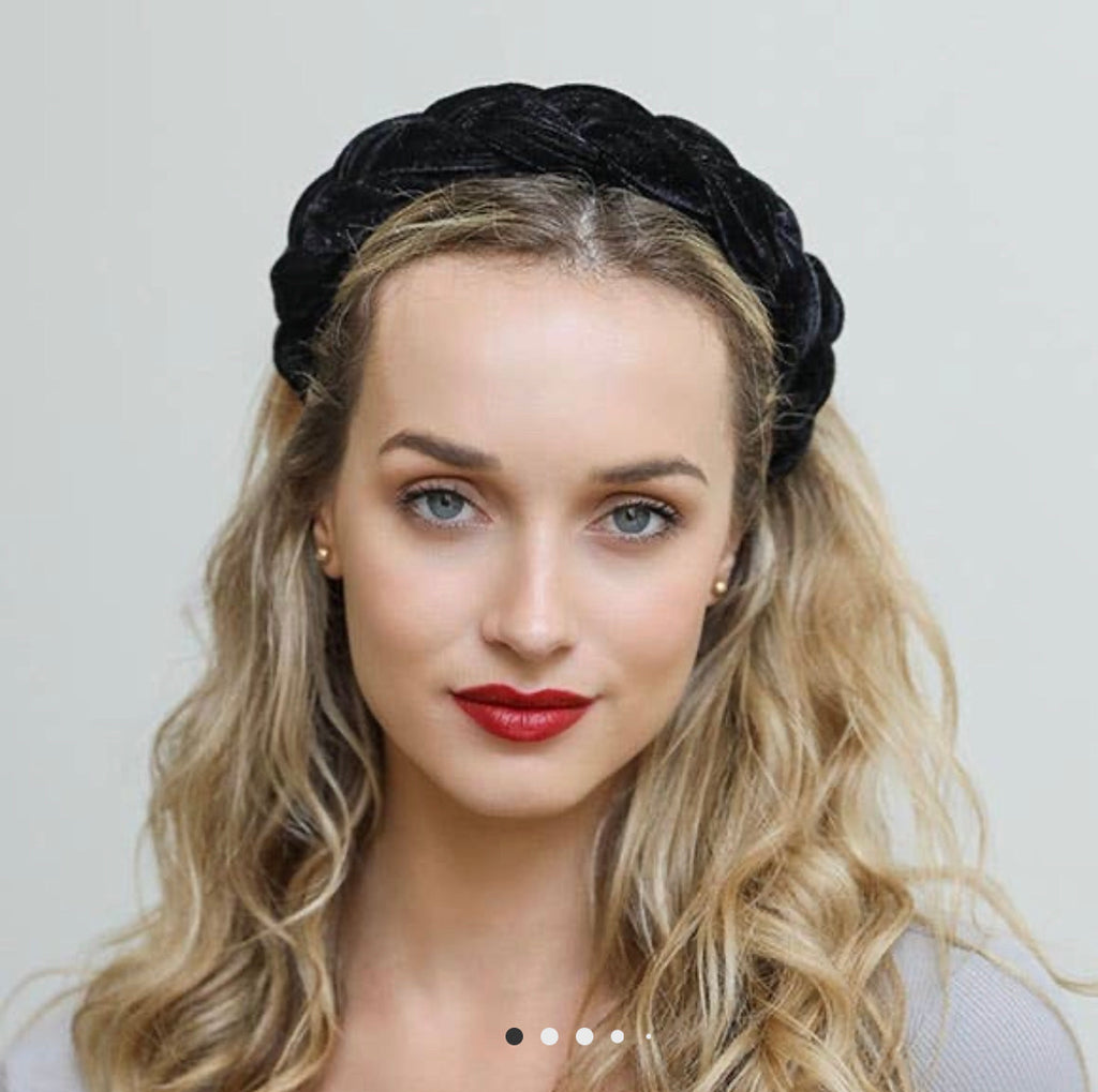 Leto Accessories - Braided Headband - Black