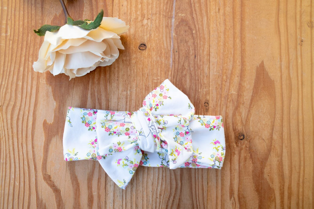 Cream Tiny Florette Bow or Bow Knot