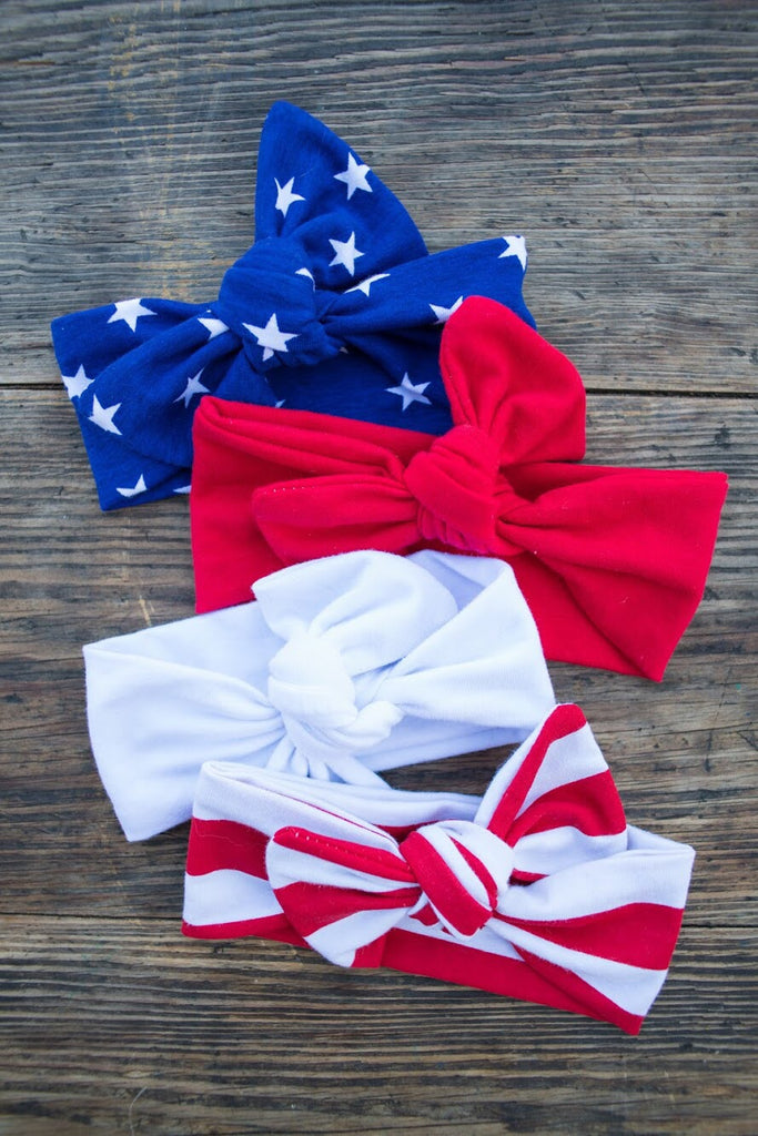 4 pack Bow Knots- Stars + Stripes Collection