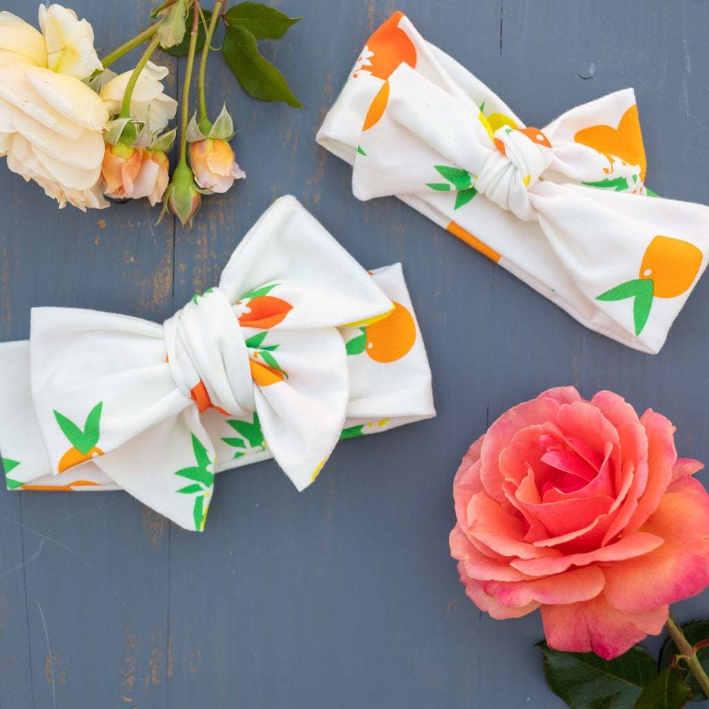 Emma Grace Shoppe- Citrus Lemon Bow or Bow Knot