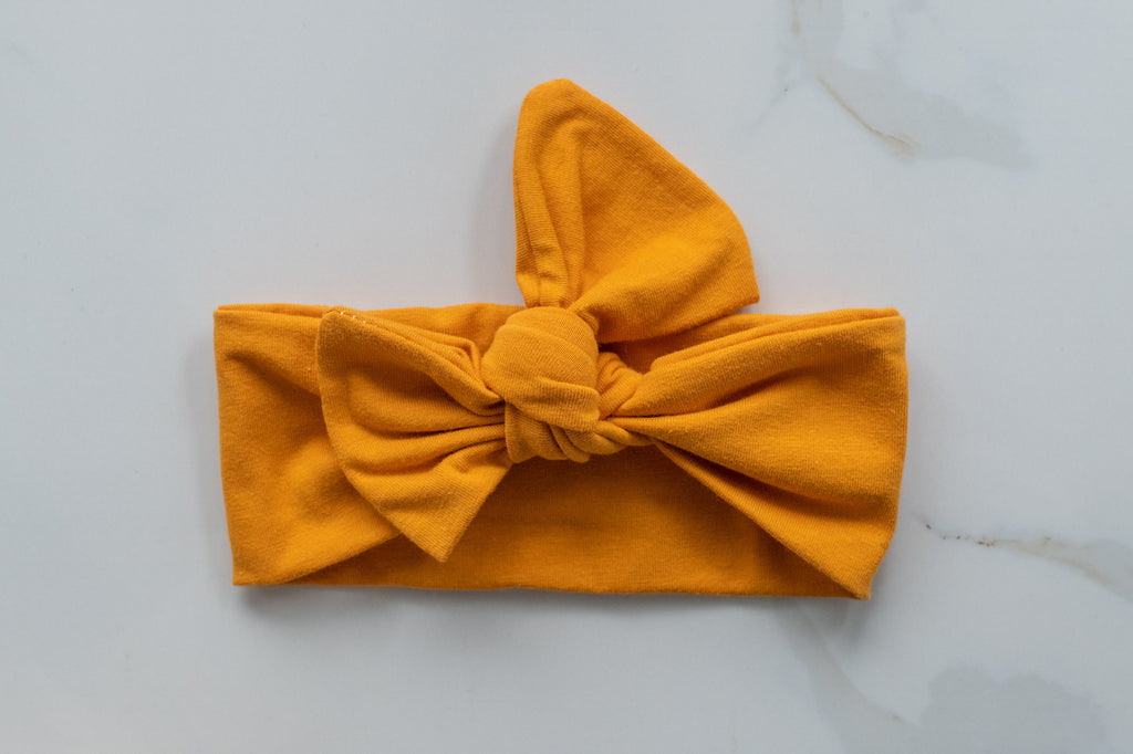 Emma Grace Shoppe- Handmade Bow knot-Mustard Yellow