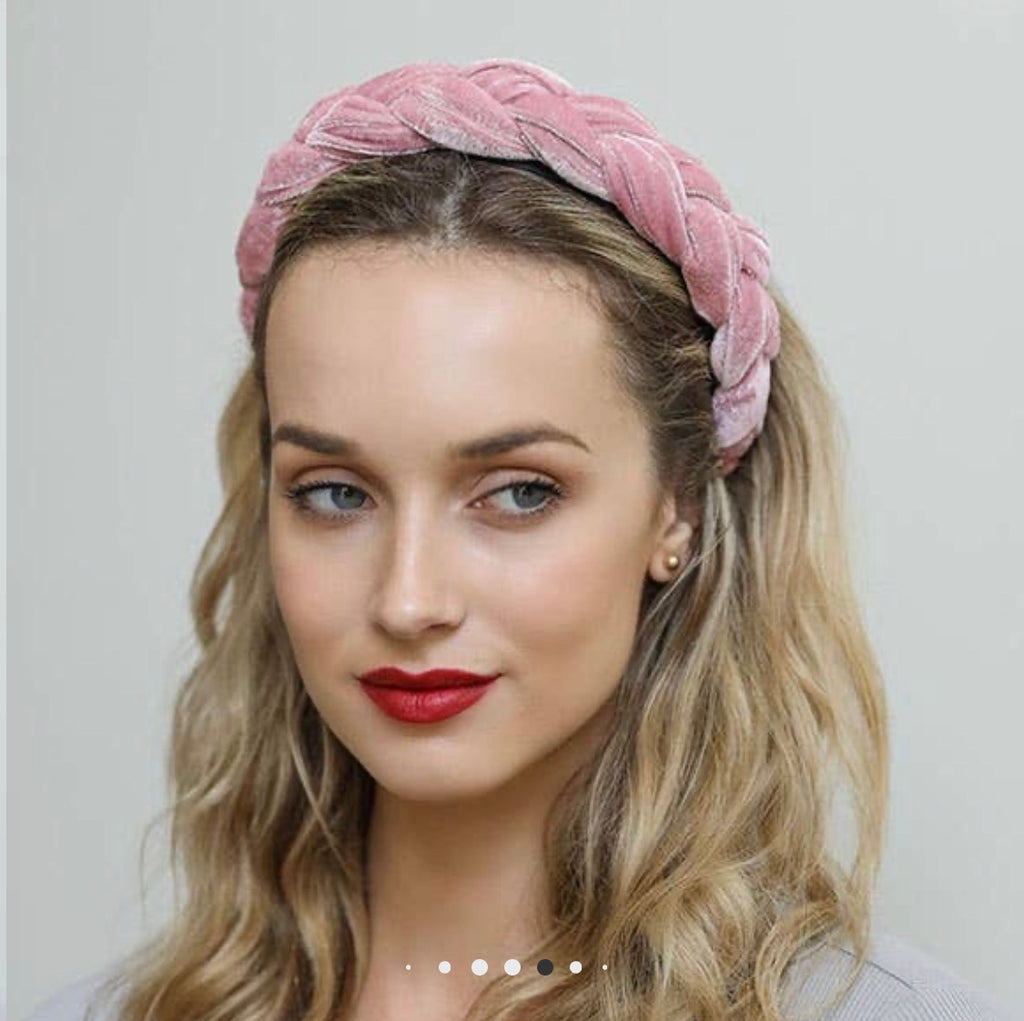 Leto Accessories - Braided Headband - Blush