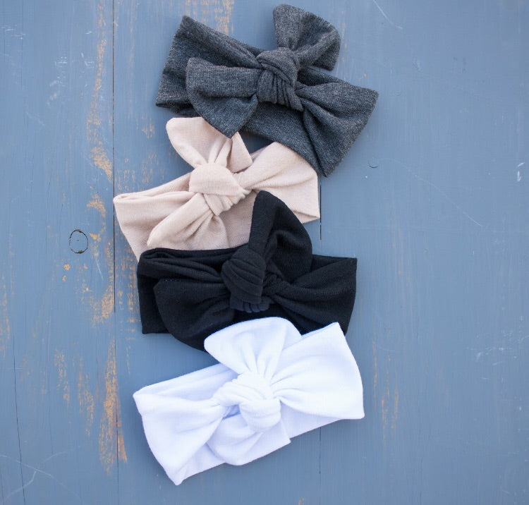 4 pack Bow Knots- Basic Neutrals Collection