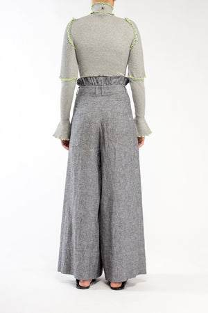 GREY MARLE CROPPED SKIVVY