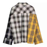 Tres Color Plaid Top