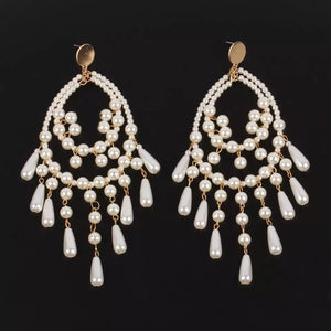 Pearl chandelier earrings