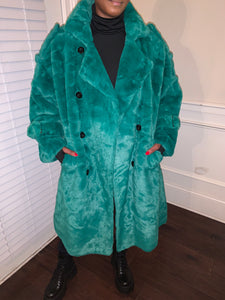 Green Fur Trench size XLarge