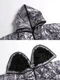Metallica Silver quilted coat