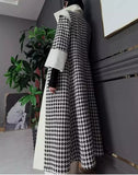 White & Houndstooth Coat