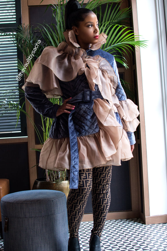Flower Bomb Quilted Coat Now in Stock
