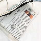Read all about it clutch bag