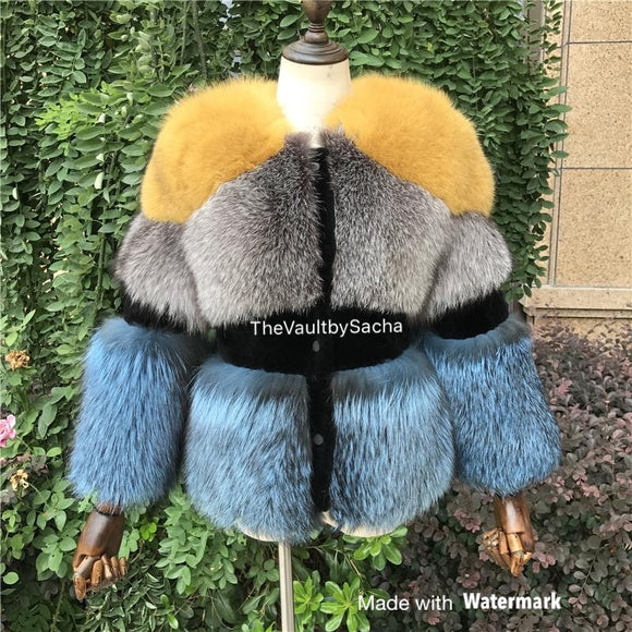 Triple Treat Genuine Fur Coat -Please read