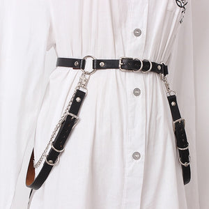 Black buckle harness