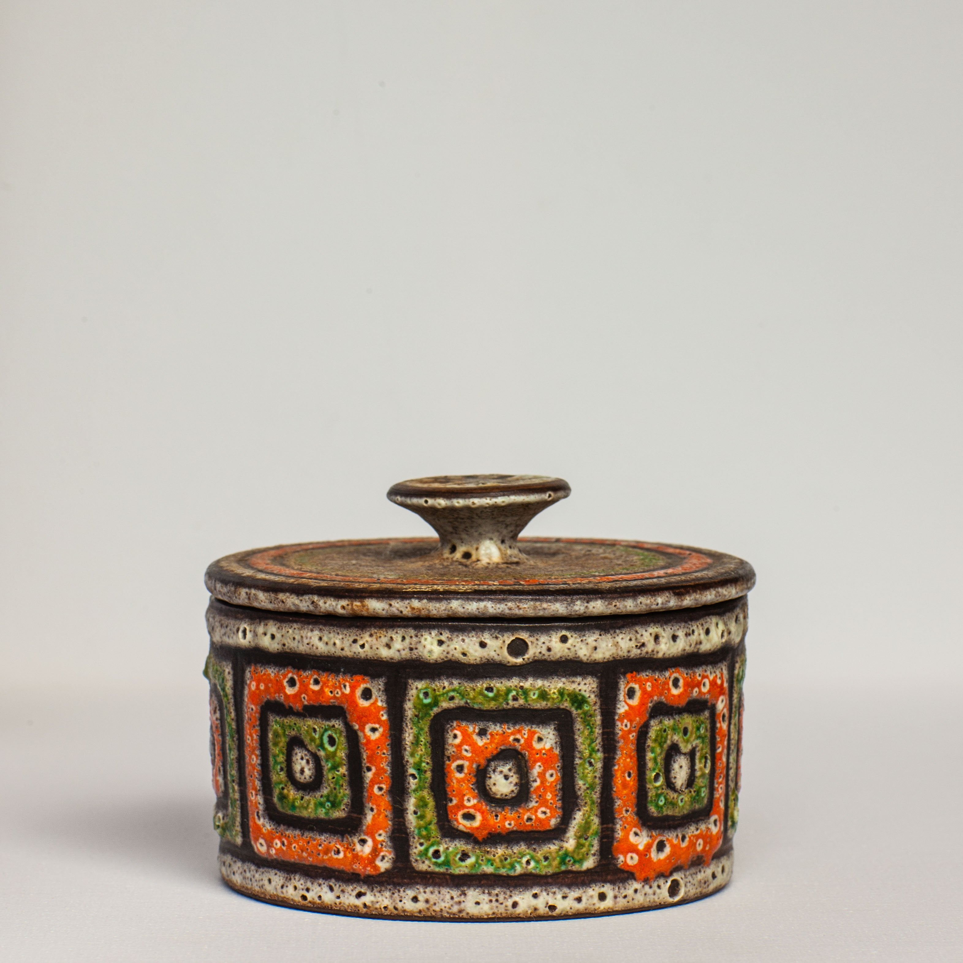 Lava Glazed Pottery Storage Jar