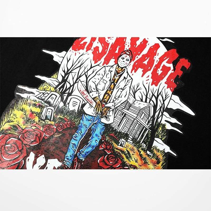 21 Savage Jason YRLA T-Shirt | Streetgarm