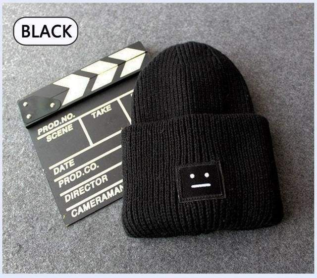Acne Ribbed Beanie Hat | Black - Streetgarm
