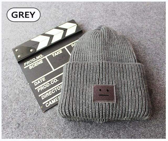 Acne Ribbed Beanie Hat | Grey - Streetgarm