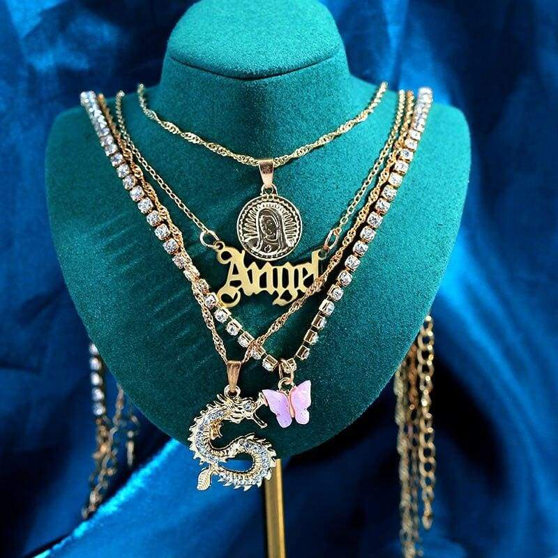 Angel Multilayer Necklace Set
