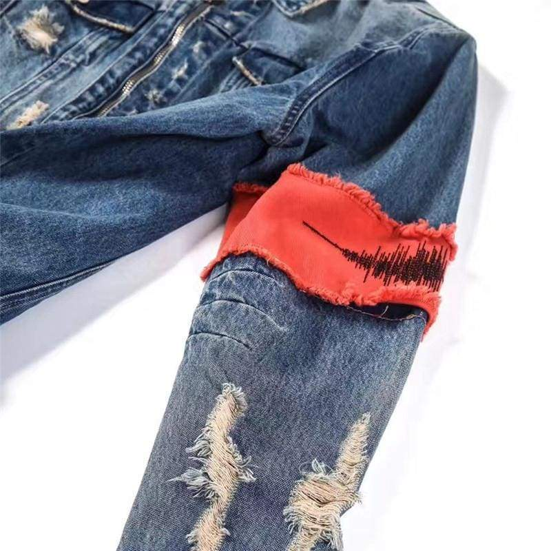 Arm Patch Denim Jacket | Streetgarm
