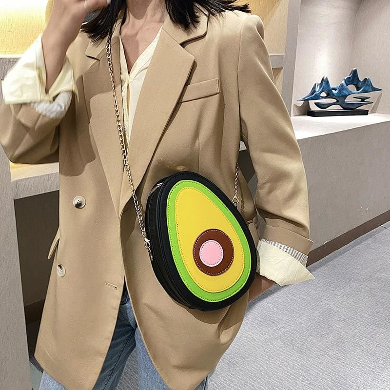 Avocado Leather Crossbody Shoulder Bag | Streetgarm