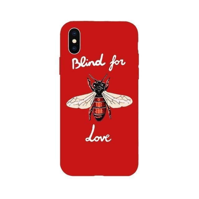 Bee Iphone Case | Red / for iPhone 5 5s SE - Streetgarm